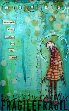 Art Journal Approach With Caution - Kate Crane