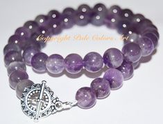 "21"" 10mm Amethyst Necklace,Purple Beaded Necklace, Gemstone Necklace,Amethyst Stone Necklace,Semiprecious Gemstone Necklace,Feb. Birthstone"