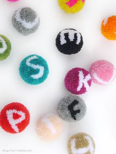 Wow! Amazing alphabet pom poms by Mr. Printables with  photo tutorial!