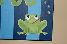 Loganberry Art: Canvas Frog Painting