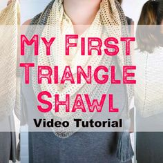 Triangle Shawl Crochet Video Tutorial - - Watch the left and right handed crochet video tutorial for My First Triangle Shawl free crochet pattern. THis si a great pattern for beginners. Crochet Prayer Shawls, Crochet Shawl Free, Crochet Shawls And Wraps, Crochet Scarves, Crochet Simple, Easy Crochet Patterns, Tutorial Crochet, Triangle En Crochet, Crochet Scarf For Beginners
