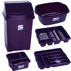 purple dish drainer | Violet - Kitchen Bin and Washing 5 piece Set