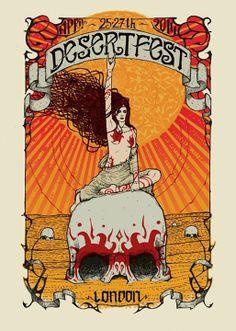 Desertfest London poster by Malleus Rock Art Lab