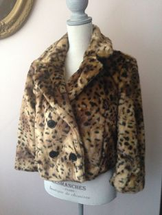 Ann Taylor Loft Leopard Print Cheetah Faux Fur Coat Women's Medium New with Tags #AnnTaylorLOFT #Coat