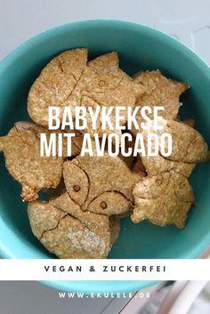 Rezept für vegane, zuckerfreie Babykekse mit Avocado. Baby Led Weaning, Breibrei, Fingerfood für Babys.