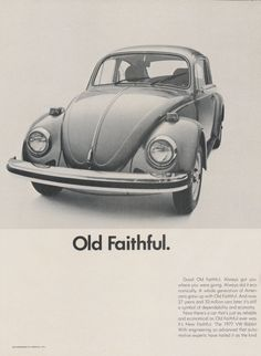 "646. 1976 VW Volkswagen Beetle Vs. Rabbit Car Photo ""Old Faithful"" 2-Page Vintage Print Ad, Wall Art"