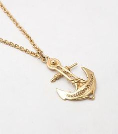 "Katrina Lapenne ""Anchor Necklace, Vermeil"""