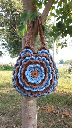#Crochet Ruffled Handbag Purse #TUTORIAL DIY Crochet handbags FREE