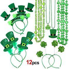6baf1e0dd Konsait St.Patricks Day Accessories, St. Patrick's Day Headband Irish  Themed Head Boppers