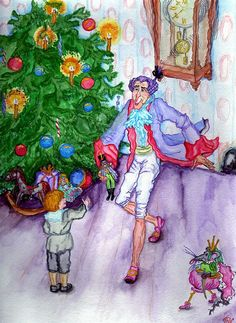 """Nutcracker"" original watercolor illustration from artist Marina Sciascia (USA)"