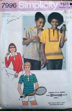 70's Tunic or Polo Tops