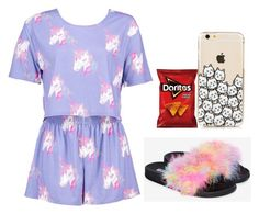 """""""Red Ribbon Week- Pajama Day"""" by telletubbies ❤ liked on Polyvore featuring Boohoo"""