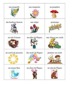 "[French  Easter Bingo Game (Via Rosie Legarreta - ""Education"" board)] http://www.pinterest.com/rslegarreta/education/"