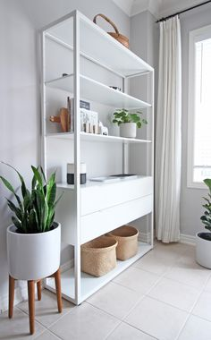 AM Dolce Vita: Kitchen Diner Makeover, Ikea Fjalkinge shelving unit, Ikea Fjalki… – Type Of Kitchen Storage Kitchen Shelving Units, Ikea Shelving Unit, Ikea Storage, Open Shelving, White Shelving Unit, Shelf Units, Kitchen Storage, Ikea Living Room, Home Living