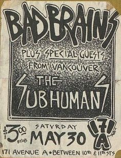 i love old DIY punk rock flyers. long live the b copier