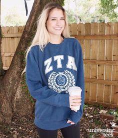 comfy • coffee • crest | Zeta Tau Alpha | Made by University Tees | universitytees.com