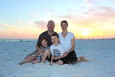 Siesta Key Beach at sunset