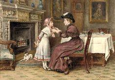 Sunday Morning ~ George Goodwin Kilburne ~ (English: 1839-1924)