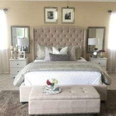 Planned Couple Room: Projects, Photos and Ideas - Home Fashion Trend Bedroom Setup, Glam Bedroom, Home Bedroom, Bedroom Decor, Bedroom Ideas, Shabby Bedroom, Shabby Cottage, Master Bedroom, Shabby Chic