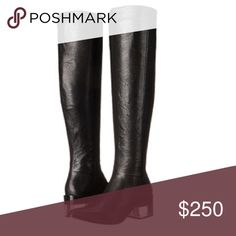 """Transparent Blocked-Heel Leather Boots. Brand new in box! Leather material throughout with a transparent 2.75"""" heel. 21"""" Shaft. 16"""" boot opening. Rachel Zoe Shoes Over the Knee Boots"""