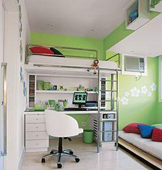 Referência de quartos para pré-adolescentes e adolescentes. Confira mais 20 quartos, clicando no link.