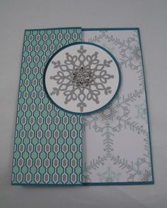 Festive Flurry, Winter Frost Specialty DSP, Circle Card Thinlit, Petite Pairs (sentiment), Frosted Finishes Embellishment (closed)