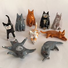Mini #cats by ceramic snippets - $28 each @ www.ceramicsnippets.etsy.com