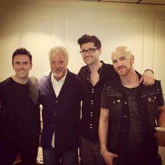 The lads and Tom Jones