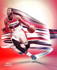 Fastest player in the NBA, John Wall of the Washington Wizards Basketball Skills, Sports Basketball, Basketball Players, Basketball Stuff, John Wall 2, Nba League, Sports Graphics, Basketball Leagues, Sports Images