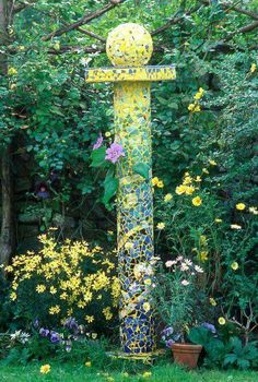 Mosaic garden accent.