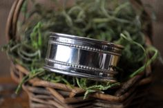 Sterling Napkin Ring , Vintage napkin holder, Antique Sterling silver collectable, great for engraving on Etsy, $38.00