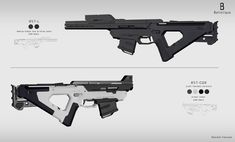 Balistique BST rifle, Daniele Trevisan on ArtStation at https://www.artstation.com/artwork/VLLOg