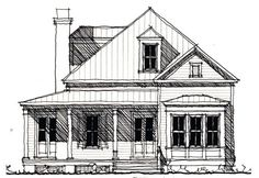 Lowcountry House Plan chp-49738 at COOLhouseplans.com