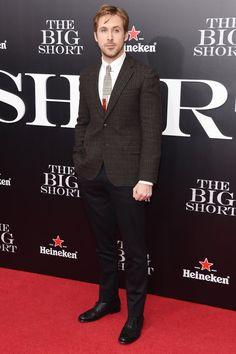 Pin for Later: Ryan Gosling Fait une Rare Apparition Publique Avec Brad Pitt et Steve Carrell