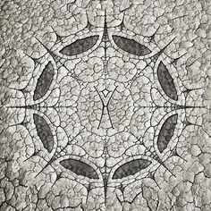 """""""Ritual of the Man"""" by Jaya Prime - Notes: The first of three Burning Man themed fractal mandalas for this week this one centered on The Man. For non-burners this cracked clay surface is the playa that makes up the Black Rock Desert in Nevada. There is nothing like 70000 creative souls encircling the burning effigy of The Man as he explodes in flames at the heart of all of us. - Featured Burner: @soaringdude -- Easily my favorite photographer from the playa and with an eye for the magic of…"""