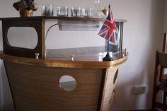 1950s boat-shaped cocktail bar on eBay