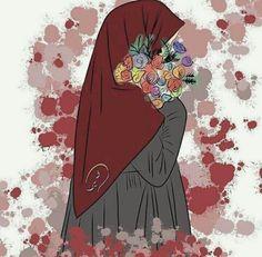 Girl Cartoon, Cartoon Art, Muslim Pictures, Hijab Drawing, Islamic Cartoon, Anime Muslim, Hijab Cartoon, Islamic Girl, Islamic Wall Art