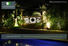 Lumenesk LED Strip Lighting Used To Line This Lumenesk Garden Feature Panel Garden  Lighting Diy,