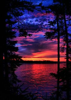 Amazing color, gorgeous sunset.