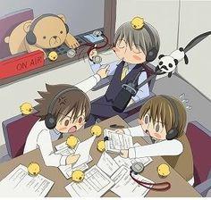 Usami Akihiko, Takatsuki Shinobu, Kamijou Hiroki and Suzuki.Haha, so adorable.