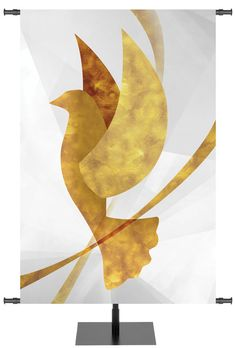 Dove Symbols of the Liturgy Banner