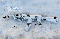 AK-105 paint winter