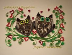 Heart Stealer Quilling Designs. Things like this only feed my owl obsession.