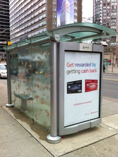MONEY RAINS IN TORONTO'S TRANSIT SHELTERS, THANKS TO SCOTIABANK! - http://www.faceadblog.com/en/money-rains-in-torontos-transit-shelters-thanks-to-scotiabank #Advertising #outdooradvertising