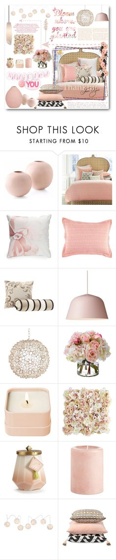 """""""BLOOM"""" by purplerose27 ❤ liked on Polyvore featuring interior, interiors, interior design, home, home decor, interior decorating, John Robshaw, Biltmore, Madison Park and Worlds Away"""