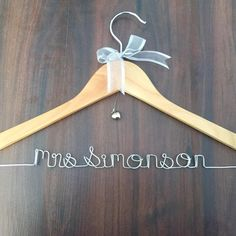 Mrs Name hanger; Wedding hanger by Bridal Bling Australia by www.bridalbling.com.au