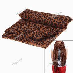 Интернет - магазины : Модный длинный шарф леопард, леопардовый рисунок д...