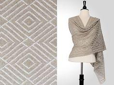 """""""Jackson Rectangular Shawl,"""" by Steve Rousseau, knit in Shibui Pebble."""