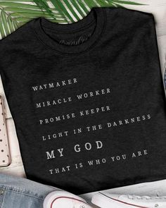Preach the gospel of the kingdom and spread God's love with our wide variety of Christian t-shirts made of premium, comfortable materials for any occasion, day or night. – Page 3 Jesus Shirts, Christian Clothing, Christian Shirts, Christian Apparel, Vinyl Shirts, Diy Shirt, Cute Shirts, Funny Shirts, Swagg
