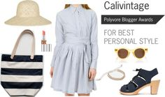 """blue dress"" by calivintage on Polyvore"